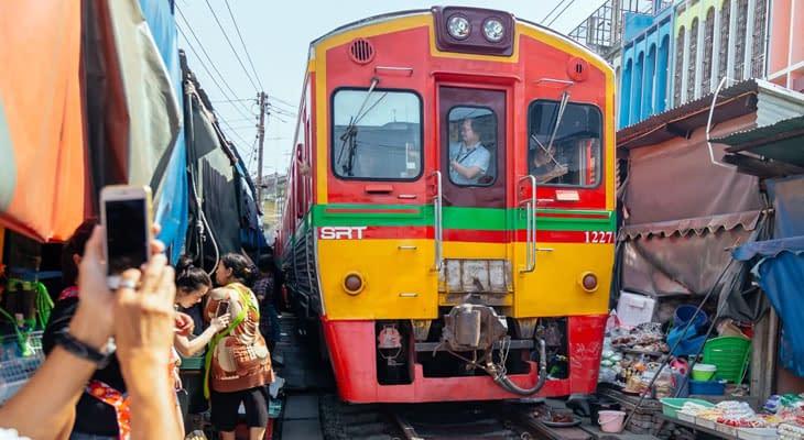 spoormarkt bangkok excursie