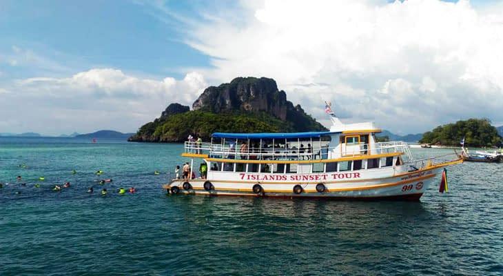 7 eilanden tour grote boot krabi