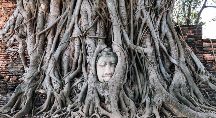 stenen boeddha Wat Phra Mahathat