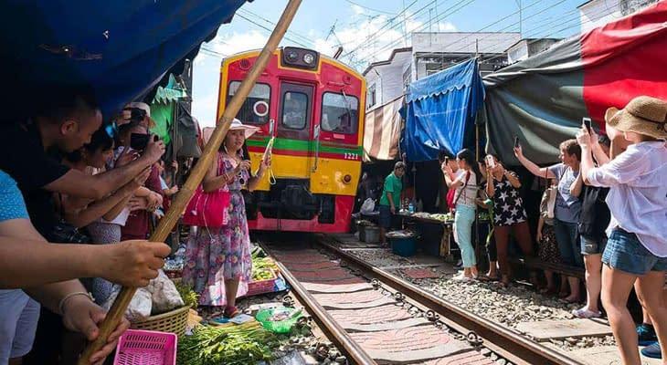 treinmarkt bangkok mae klong excursie