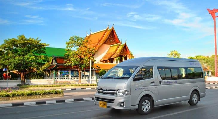 vervoer minibus bangkok khao yai tour
