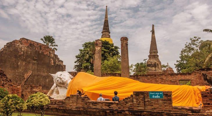 Wat Yai Chai Mongkhon ayuthhaya excursie