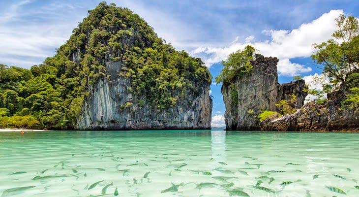 Phi Phi en Khai eilanden per speedboot vissen