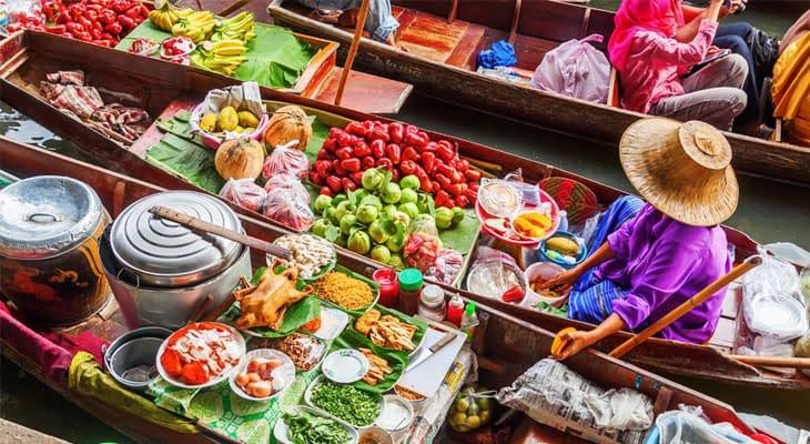 damnoen sadoeak brangkok drijvende markt tour