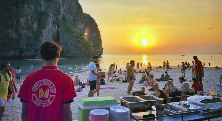 diner strand phranang 7 eiland tour krabi
