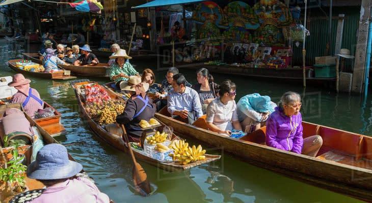 tour bangkok naar drijvende markt