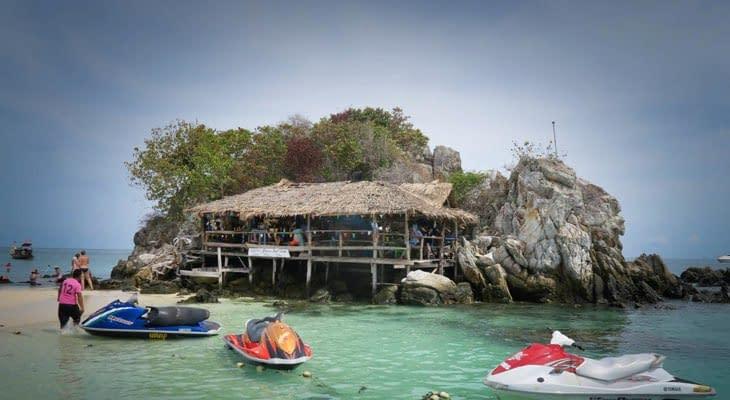 Phi Phi en Khai eilanden per speedboot kay nok island