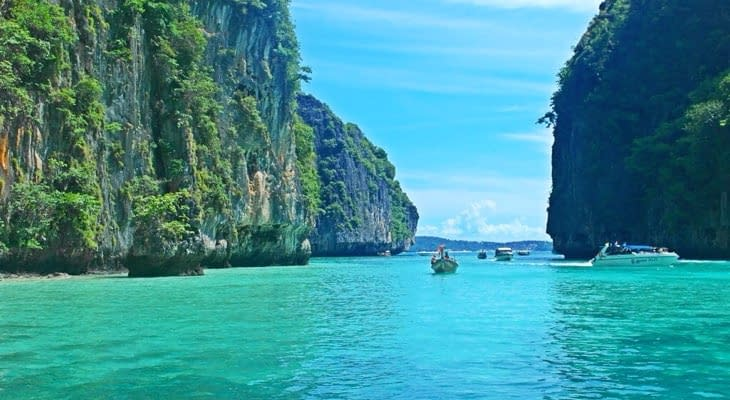 Phi Phi en Khai eilanden per speedboot phi phi don