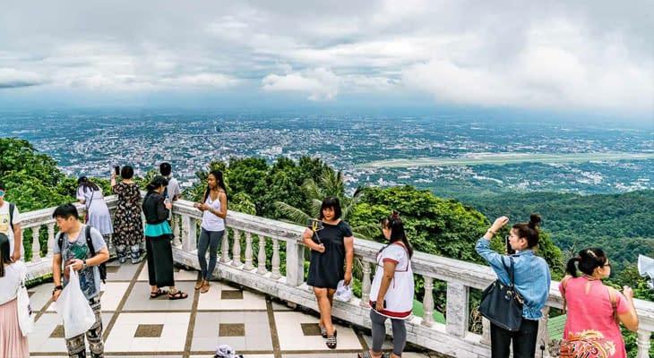 uitzicht vanaf Doi Suthep excursie