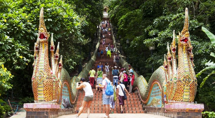 trap doi suthep tempel