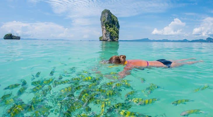 snorkelen 7 eilanden tour ao nang