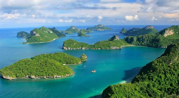uitzicht over angthong nationaal marine park