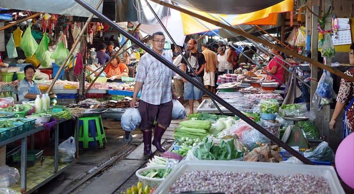 combinatietour bangkok railway markt en damnoen saduak