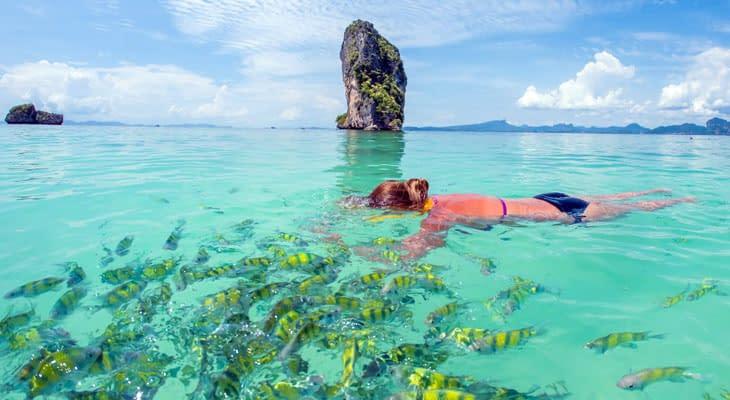 snorkelen poda eiland dagtrip ao nang