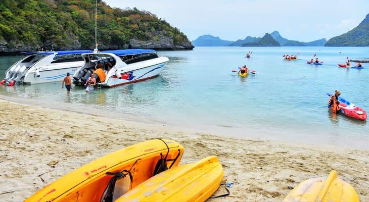 angthong marine park koh samui kajakken