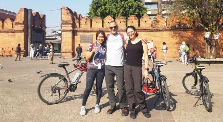 fietsen chiang mai tha pae stadspoort