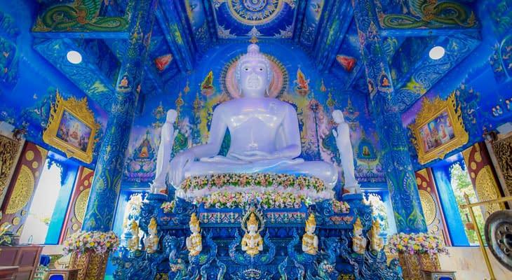 blauwe tempel chiang rai dagtrip