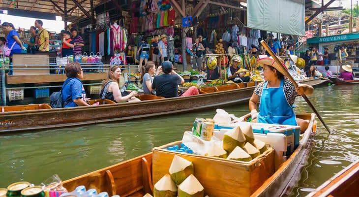 excursie bangkok naar drijvende markt