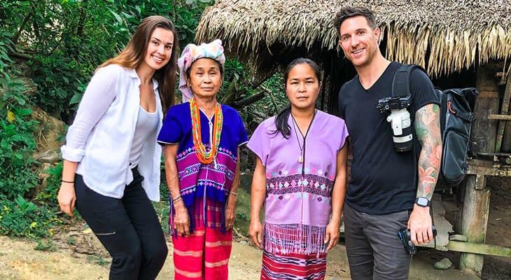 karen bergstam bezoeken vanaf chiang-mai
