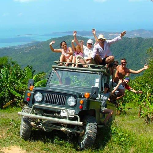 jungle safari zonder dierenshows koh samui