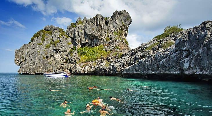 speedboat tour samui angthong marine park