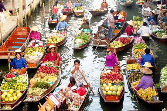 dagtour drijvende markt-damnoen sadoeak bangkok