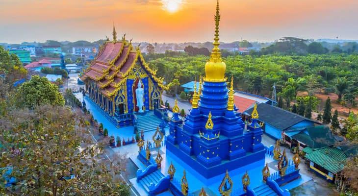 blauwe tempel chiang rai tour vanaf chiang mai